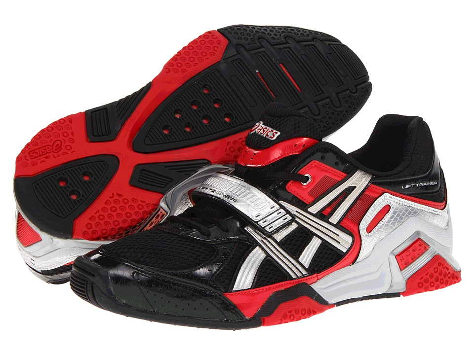 ASICS - Lift Trainer (Black/Silver/Red) Men's Cross Training Shoes