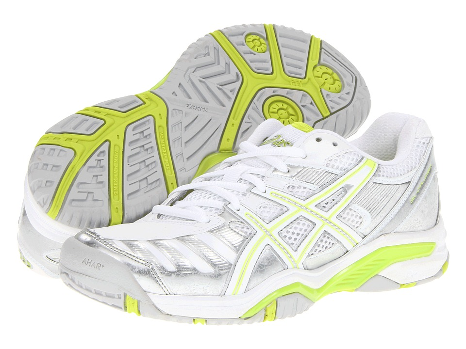 ASICS - Gel-Challenger 9 (Silver/Neon Lime/White) Women's Tennis Shoes
