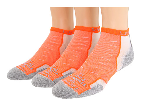 Thorlos - Experia Micro Mini 3-pair Pack (Electric Orange) Low Cut Socks Shoes