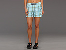 Columbia - Cross On Over Cargo Plaid Short (Clear Blue Large Plaid) - Apparel