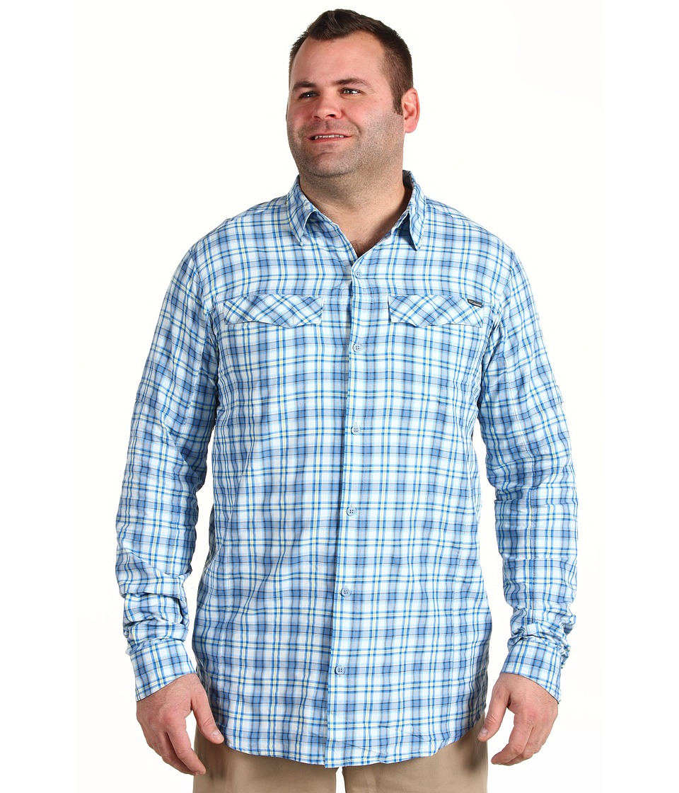 Columbia - Silver Ridge Plaid L/S - Big (Hyper Blue Big Plaid) Men's Long Sleeve Button Up