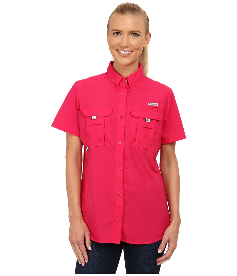 Columbia - Bahama S/S Shirt (Bright Rose) Women's Short Sleeve Button Up