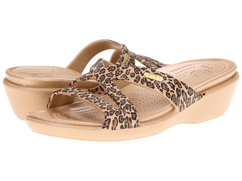 Crocs - Patricia II Leopard (Gold/Black) Women's Sandals