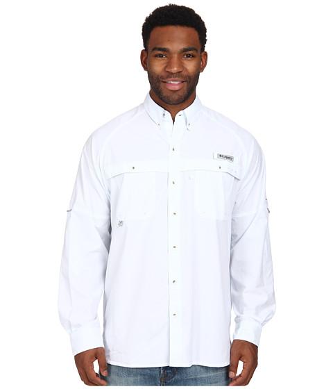Columbia - Terminal Zero L/S Woven (White) Men's Long Sleeve Button Up