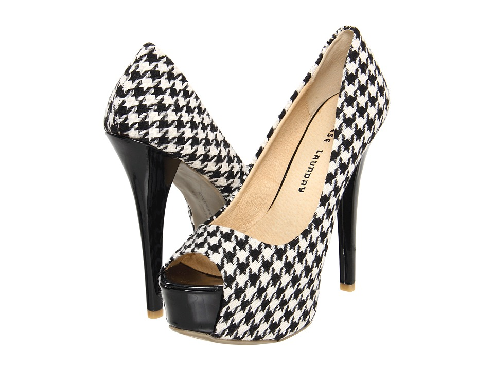 Chinese Laundry - Triple Major (Black/White Houndstooth) High Heels