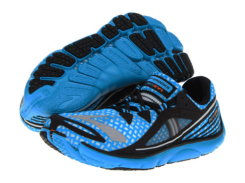 brooks blue running shoes