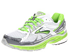 Brooks - Adrenaline GTS 13 (White/Anthracite/Jasmine Green/Silver) - Footwear