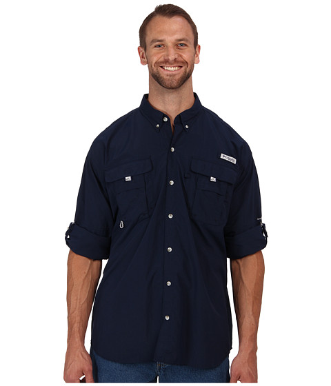 Columbia - Bahama II Long Sleeve Shirt - Extended (Collegiate Navy) Men's Long Sleeve Button Up