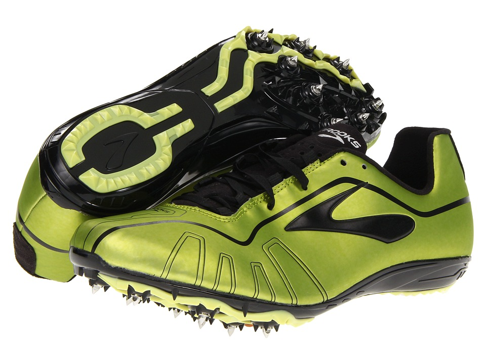 Brooks QW-K (Tennis Ball/Black/Citron) Running Shoes