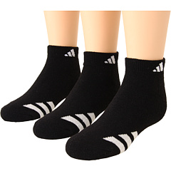 SALE! $9.99 - Save $4 on adidas Kids Youth Striped 3 Pack Low Cut (Toddler Little Kid Big Kid Adult) (Black White) Footwear - 28.64% OFF $14.00