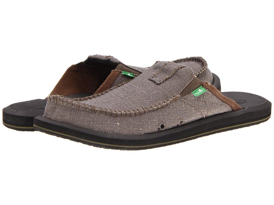 Sanuk - You Got My Back II Big Tall (Army) Men's Slip on Shoes
