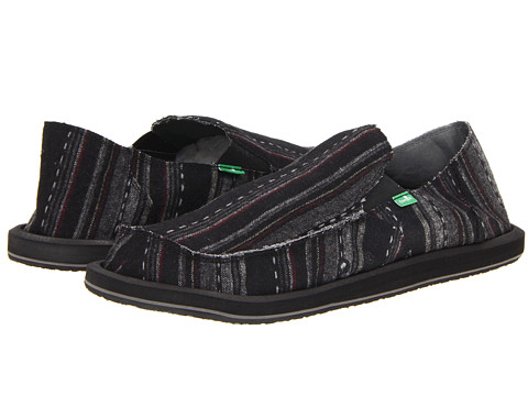 Sanuk - Donny Big Tall (Carbon) Men's Slip on Shoes