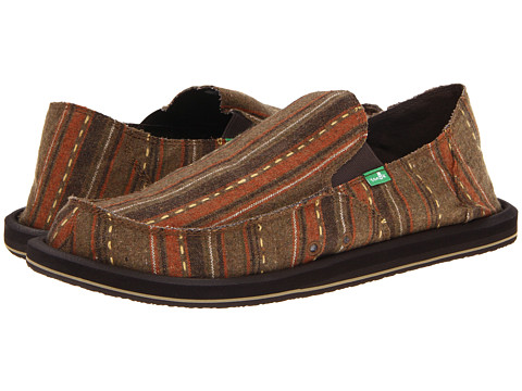 Sanuk - Donny Big Tall (Dark Brown) Men's Slip on Shoes