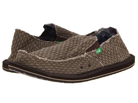 Sanuk - Vagabond Yogi (Olive) Men's Slip on Shoes