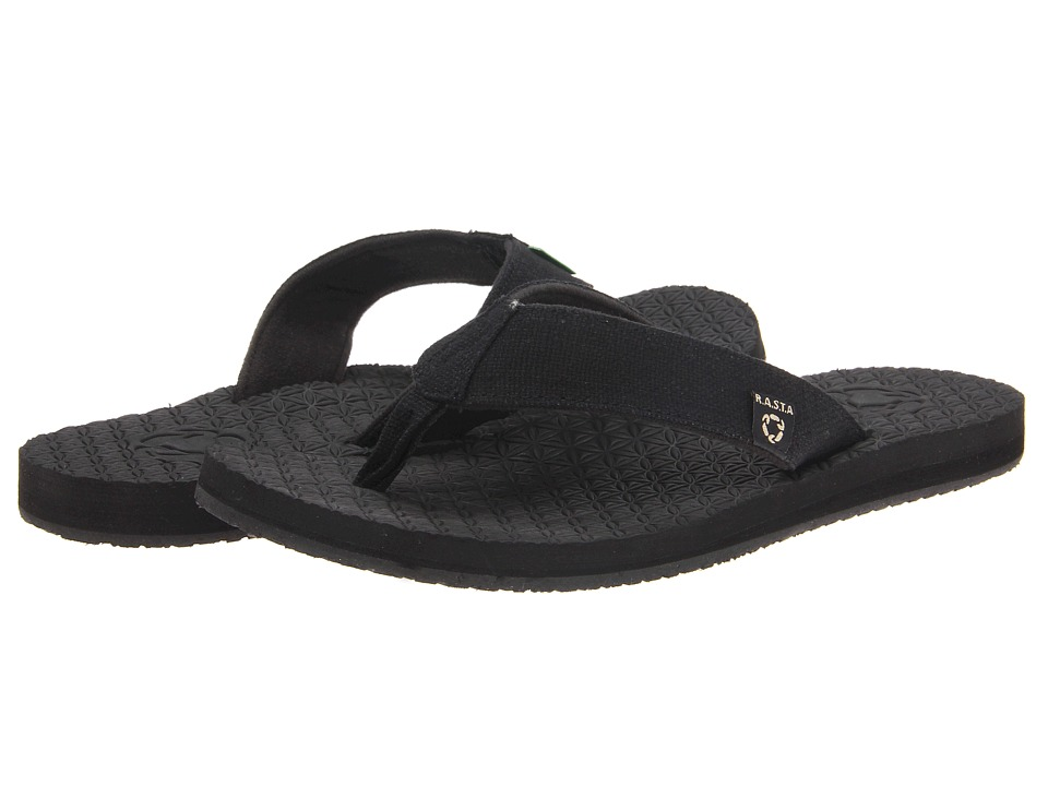 Sanuk - Rasta Didgeridude (Black) Men's Sandals