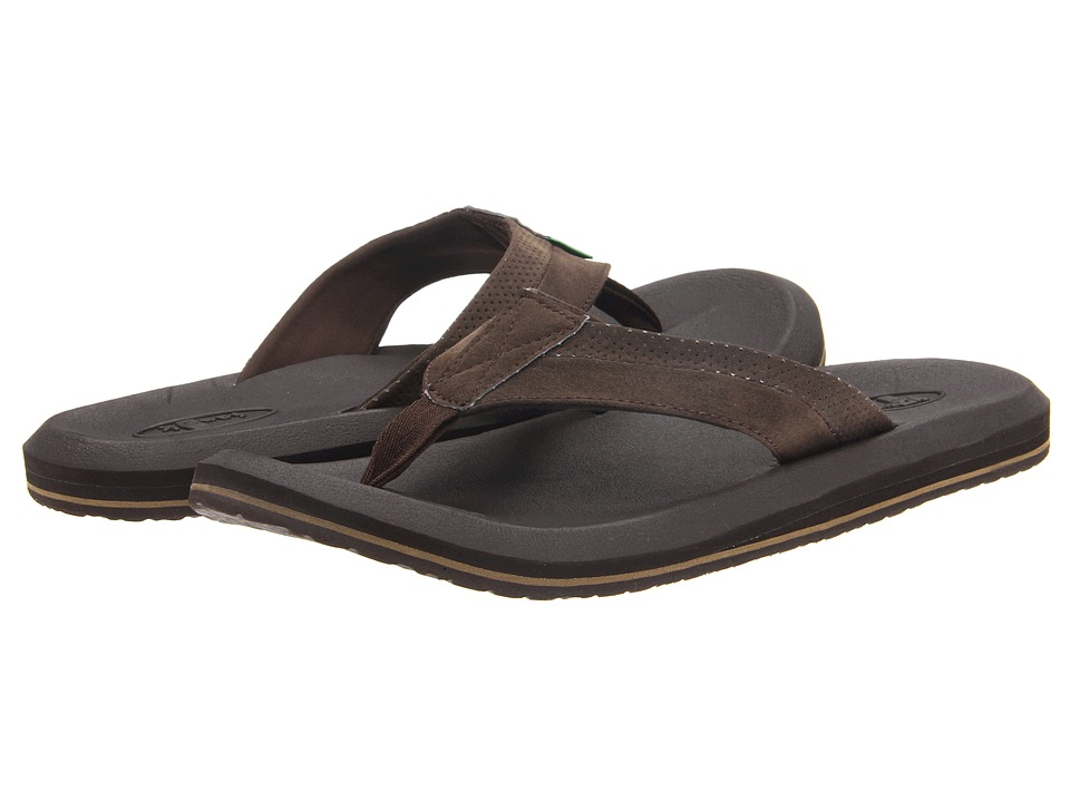 Sanuk - Slacker 2 (Chocolate) Men's Sandals