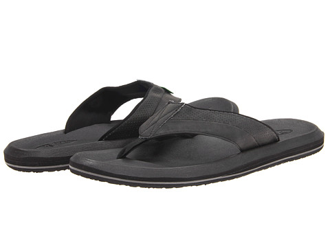 Sanuk - Slacker 2 (Black) Men's Sandals