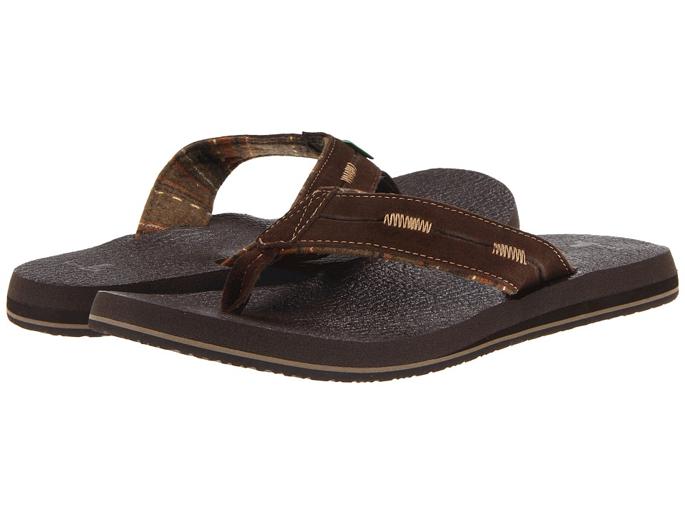 Sanuk - Beer Cozy Split (Chocolate) Men's Sandals