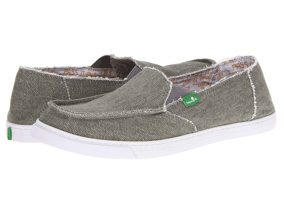 Sanuk - Cabrio (Grey) Women's Slip on Shoes
