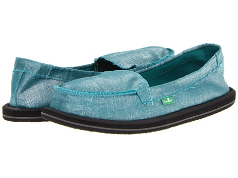 Sanuk - Ohm My (Teal) Women's Slip on Shoes