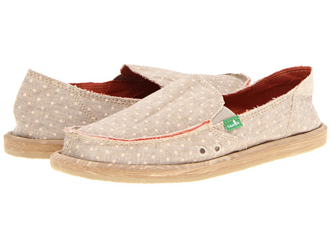 Sanuk - Dotty (Tan) Women's Slip on Shoes