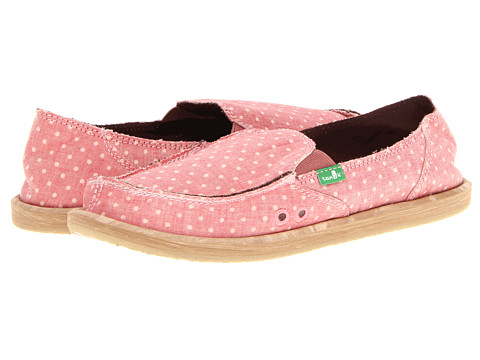 Sanuk - Dotty (Pink) Women's Slip on Shoes