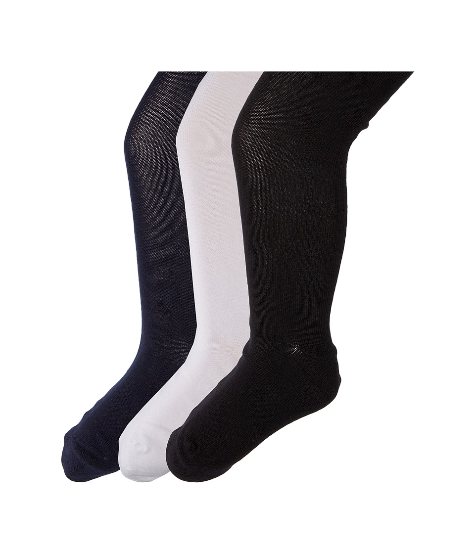 Jefferies Socks - Seamless Organic Tight Three Pack (Infant/Toddler/Little Kid/Big Kid) (Black/Navy/White) Hose