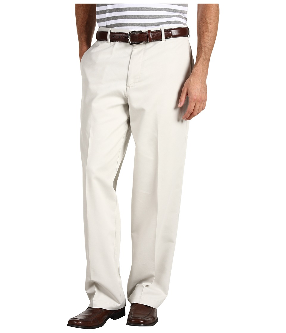 Dockers Men's - Comfort Khaki D4 Relaxed Fit Flat Front (Stone) Men's Casual Pants
