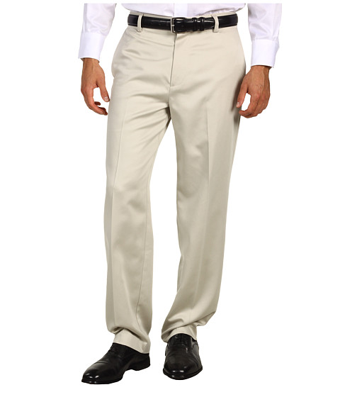 Dockers Men's - Never-Iron Essential Khaki D3 Classic Fit Flat Front Pant (Stone) Men's Casual Pants