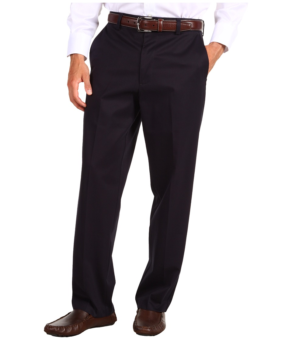 Dockers Men's - Signature Khaki D4 Relaxed Fit Flat Front (Navy) Men's Dress Pants