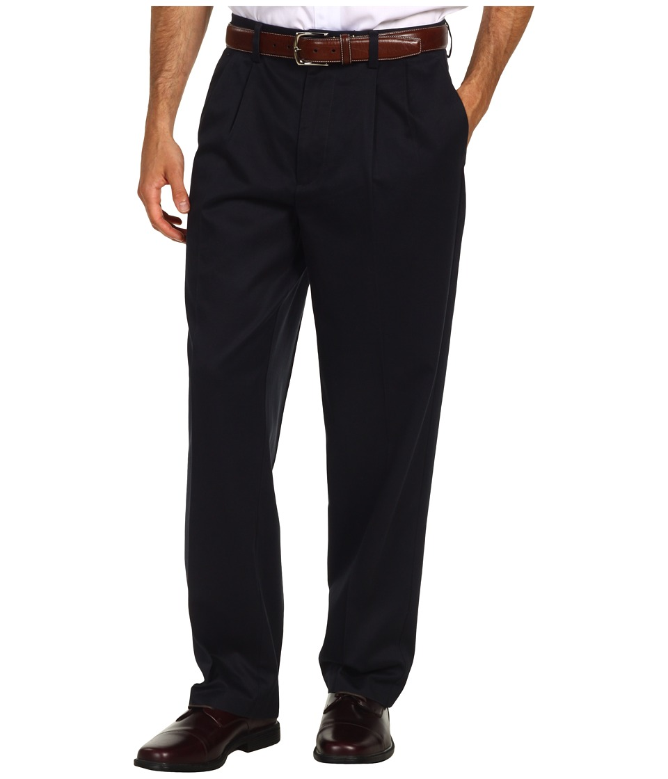 Dockers Men's - Signature Khaki D4 Relaxed Fit Pleated (Navy) Men's Casual Pants