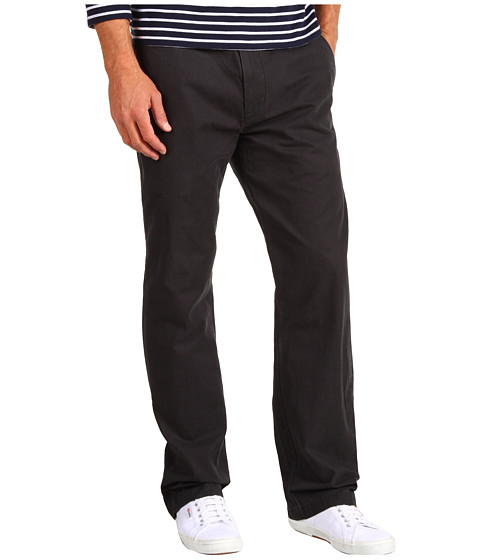 Dockers Men's - Broken In Khaki Slim Straight Fit Flat Front (Jet Black) Men's Casual Pants