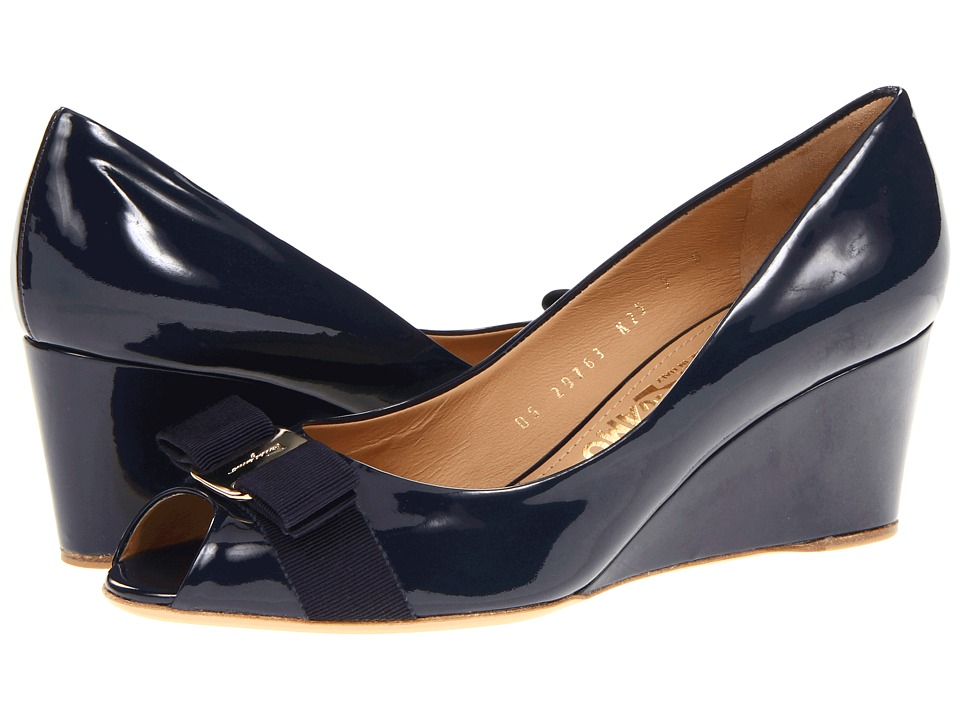Salvatore Ferragamo Sissi (Oxford Blue Patent) Women