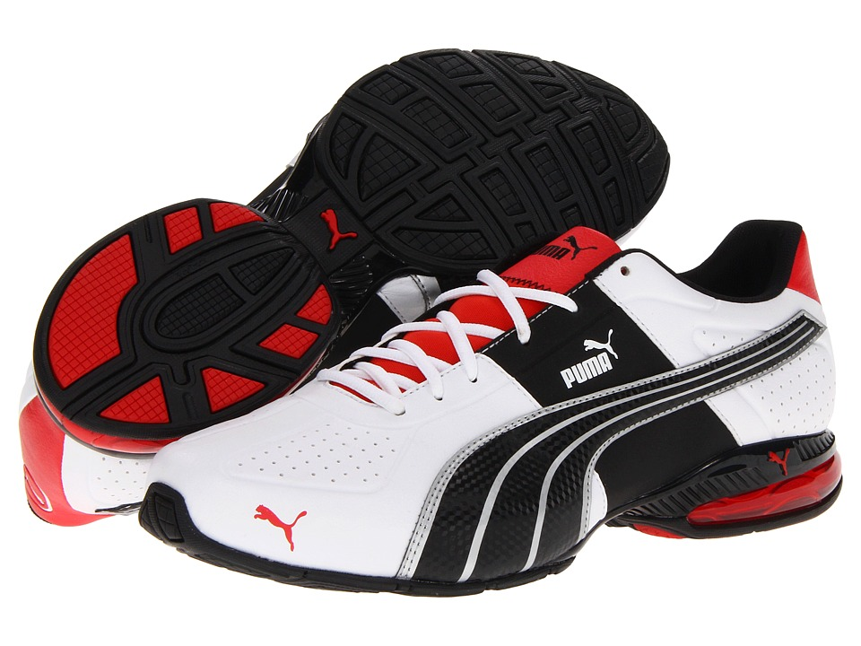 PUMA - Cell Surin (White/Flame Scarlet/Black) Men's Shoes