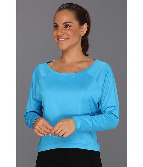 Reebok - Dance Boxy Tee (Far Out Blue) Women's Long Sleeve Pullover