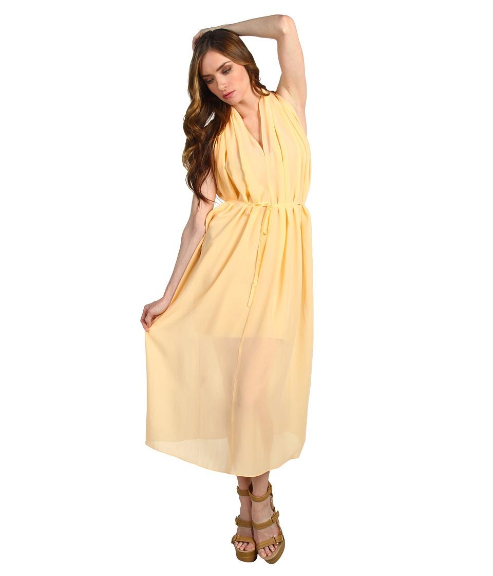 See by Chloe - S/L Deep V Knee Length Dress (Orange) Women's Dress