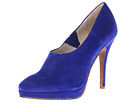 Juicy Couture - Eylssa (Electric Blue Kid Suede Pewter Metallic Nappa) - Footwear