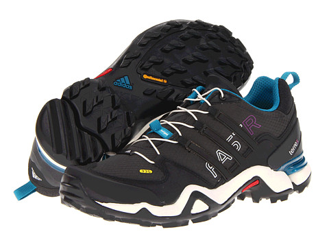 adidas Outdoor - Terrex Fast R (Solid Grey/Black/Vivid Teal) Women