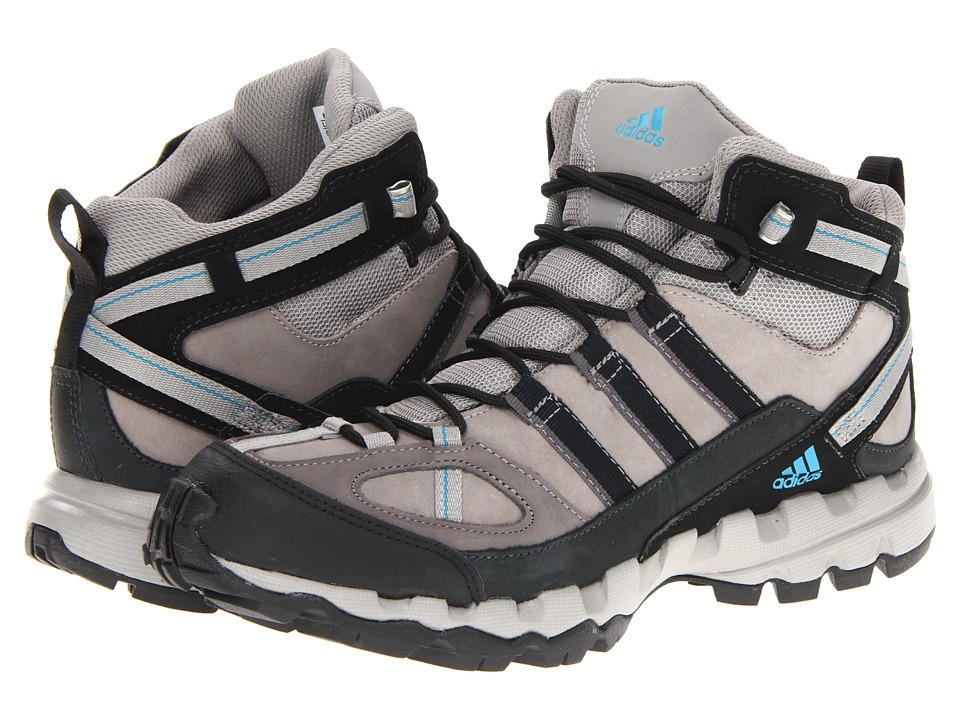 adidas Outdoor - AX 1 Mid Leather (Grey Rock/Black/Vivid Teal) Women's Hiking Boots