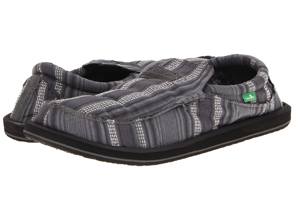 Sanuk - Kyoto Big Tall (Slate Stripe) Men's Slip on Shoes