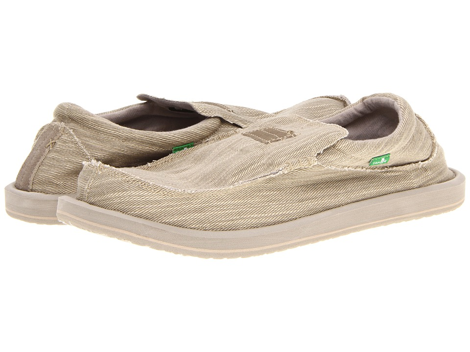 Sanuk - Kyoto Big Tall (Stone) Men's Slip on Shoes