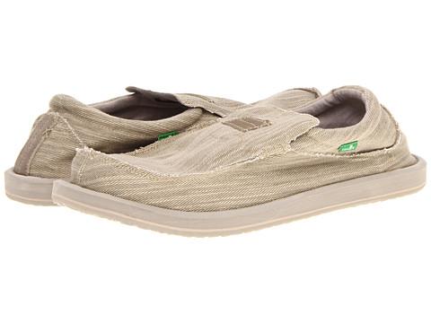 Sanuk - Kyoto Big Tall (Stone) Men's Slip on Shoes