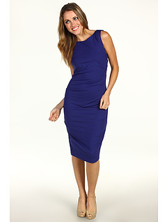SALE! $124.99 - Save $150 on Nicole Miller Ponte Sleeveless Tucked Dress (Sapphire) Apparel - 54.55% OFF $275.00