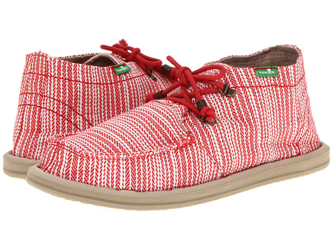 Sanuk - Bedouin Summer (Red Stripe) Women's Slip on Shoes