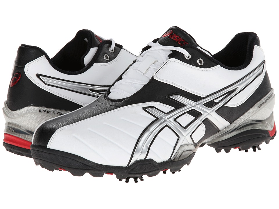 ASICS - Gel-Ace Tour 3 (White/Black/Silver) Men's Golf Shoes