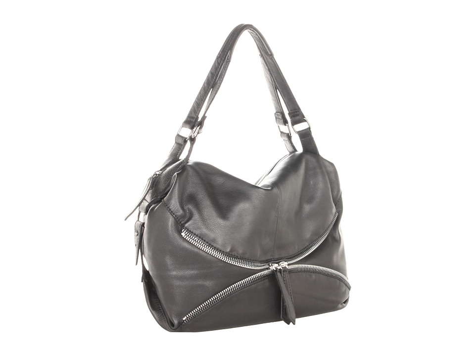 Linea Pelle - Alex Zip Hobo (Black) Hobo Handbags