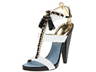 DSQUARED2 - Kimberly Vitello Sandal (Avorio/Nero) Sandal