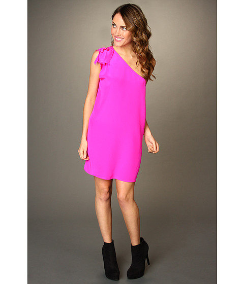 Tucker - KSD412-132 Knotted Shoulder Dress (Magenta) Women's Dress