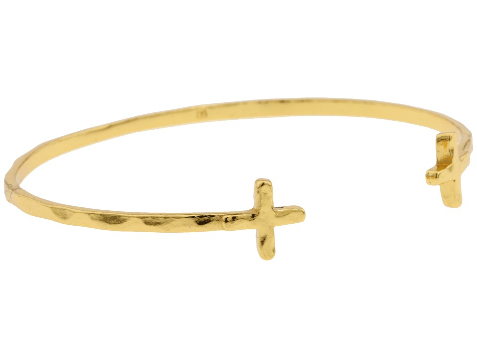 gorjana - Cross Over Cuff Bracelet (Gold) Bracelet