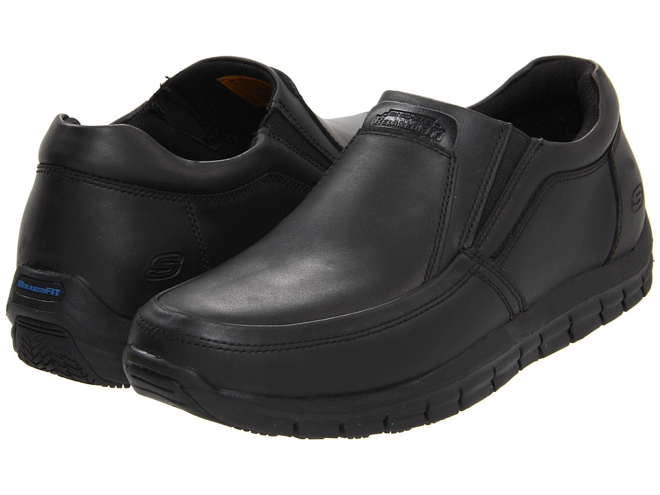 SKECHERS Work - Magma - Solace (Black) Men's Industrial Shoes